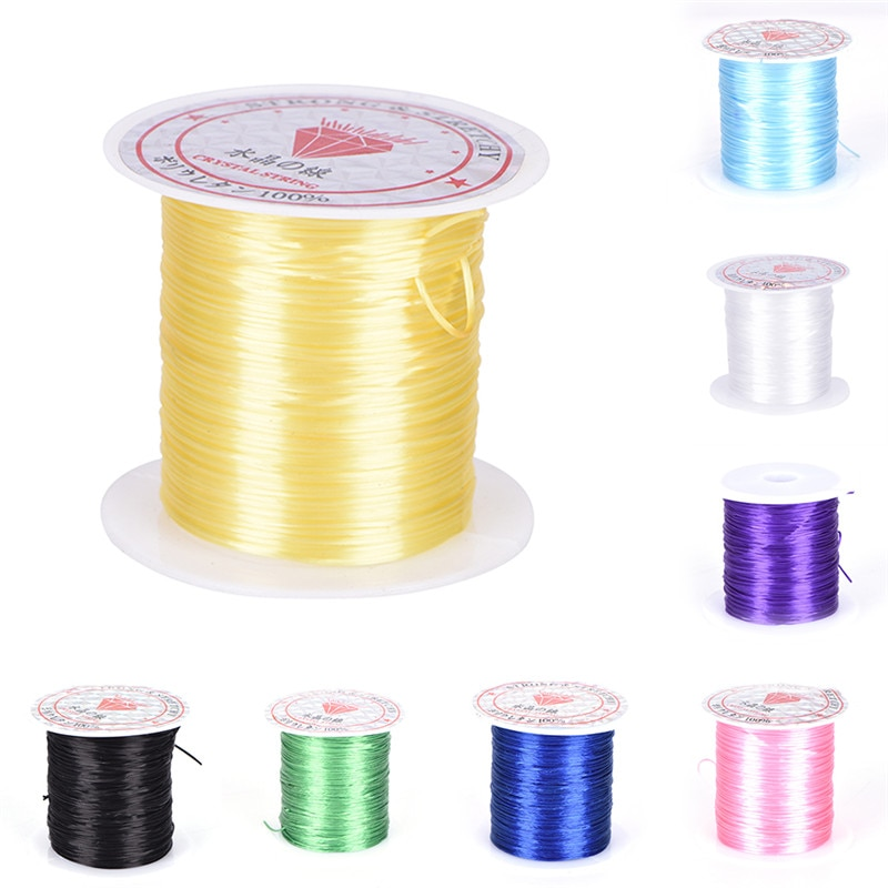 Round Beading Wire/Cord/String/Thread Jewelry Making 0.8mm DIY Crystal Bead Cord Elastic Line Transparen Clear Component 1PC