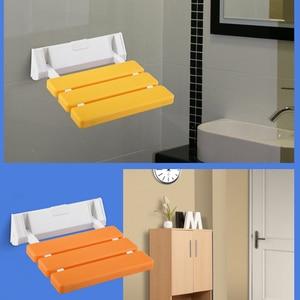 Wall Mounted Shower Seat Elderly Non-slip Bath Chair for Bathroom Relax Stool Seats Bathhouse Stool Chair Plastic Folding Chair