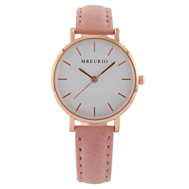 Fashion Simple Women Watches Woman Watch Fine Ladies Casual Pink Leather Quartz Watch Female Clock Relogio Feminino Montre Femme fashion simple ladies wrist watches luminous women watches casual leather strap quartz watch clock montre femme luxury gift
