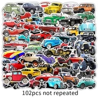 103050102pcsset off road vehicle classic car childrens toy mixed sticker scooter bike mobile laptop traveling bag funny