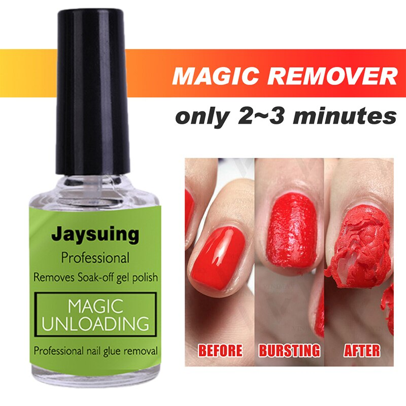 10ml Nail Gel Polish Magic Remover For Manicure Fast Clean Within 2-3 MINS UV Gel Nail Polish Remove Base Top Coat Nail Remover