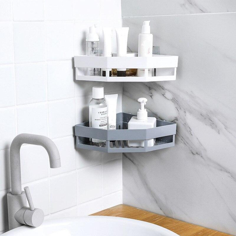 Prateleira banheiro de canto, prateleira para parede organizadora, suporte de parede para banheiro