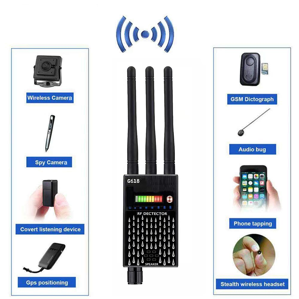 cx007 rf gsm device detection multi function rf signal camera phone gsm gps wifi bug detector finder with alarm person security 1MHz-8000GHz Multi-function Detector Camera GSM Audio Bug Finder GPS Signal RF Tracker Detect Wireless Products