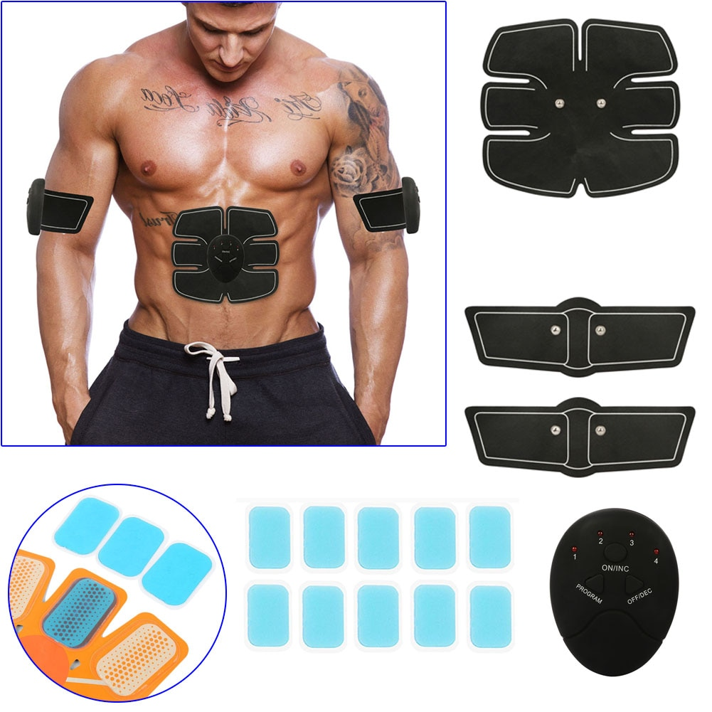 Smart Stimulator Training Abs Fitness Gear Muscle Abdominal Toning Belt Trainer Device ED-shipping