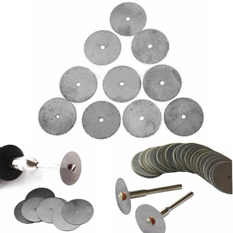 10pcs Mini Circular Saw Blade Electric Grinding Cutting Disc Rotary Tool for  Metal Cutter Power Tool Wood Cutting Discs mini handy craft metal saw tools modeling tool wear resistant for trimming cutting ja55