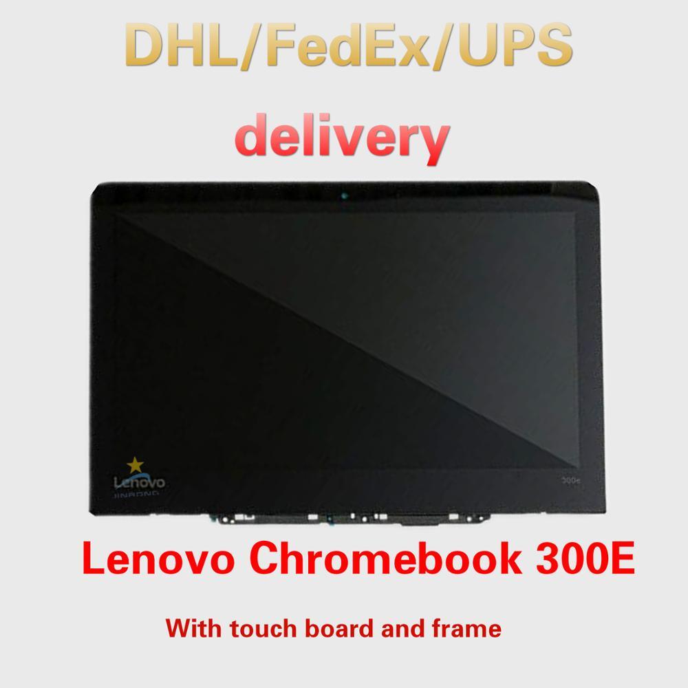 5d10q93993 original novo completo lenovo chromebook 300e (81h00000us) 11.6 hd hd hd lcd led tela de toque digitador assembléia moldura