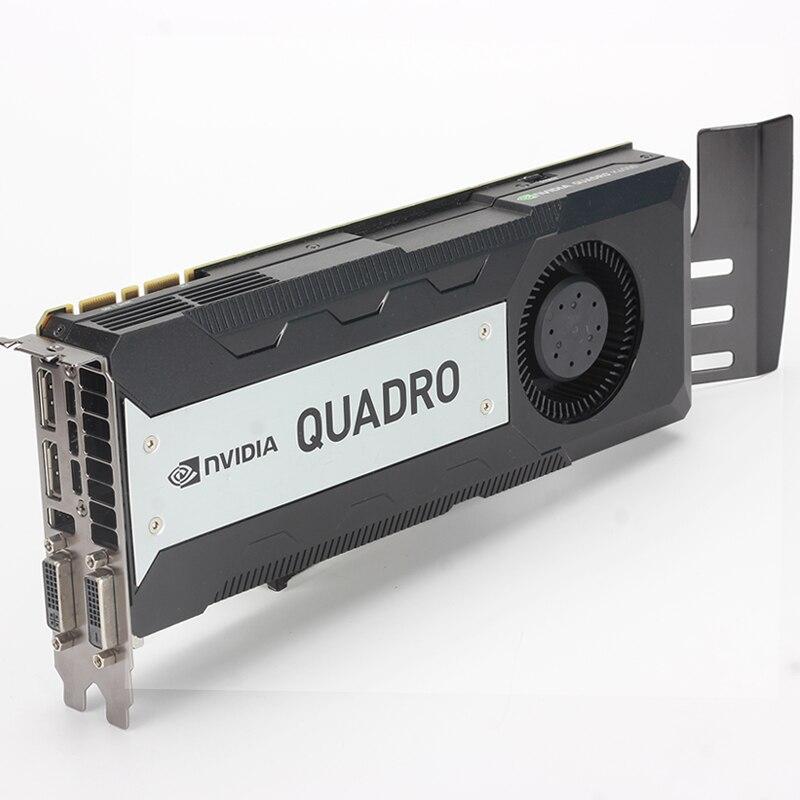 Tarjeta de gráficos profesional Leadtek NVIDIA Quadro K6000 12GB GDDR5, tarjeta gráfica de diseño de renderizado de alta gama utilizada como nueva