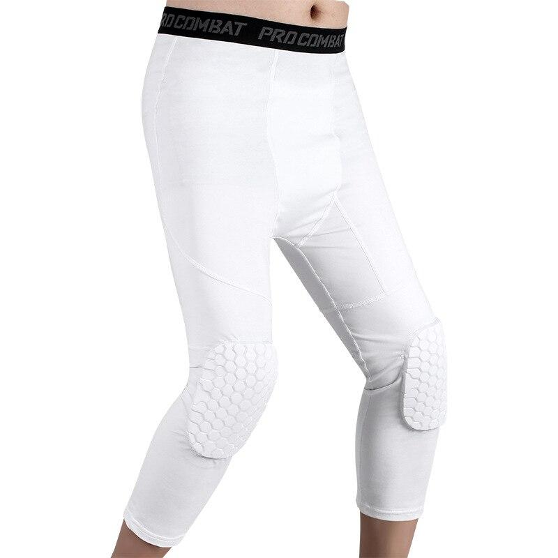 Oddychająca sport piłka nożna ochraniacze na kolana do koszykówki spodnie o strukturze plastra miodu orteza stawu skokowego rękaw na nogę łydki kompresja ochrona kolana