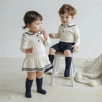 newborn baby btorher sister matching outfits toddler boys overalls romper infant girls one piece dress dress twins baby clothes