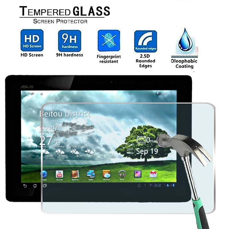 For ASUS Transformer Pad TF300T -Premium Tablet 9H Tempered Glass Screen Protector Film Protector Guard Cover 9h tempered glass for asus zenpad 8 0 z380 z380c z380m z380kl screen protector 8 inch tablet protective glass film guard premium