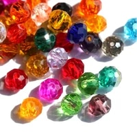 6mm 8mm rondelle faceted crystal glass loose spacer beads for jewelry making diy bracelet beads necklace accessories