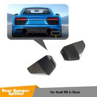 Car Splitter Diffuser Bumper Canard Lip For Audi R8 Tuning Body Kit rear Car Fin Splitter Fins Body Spoiler 2016-2018