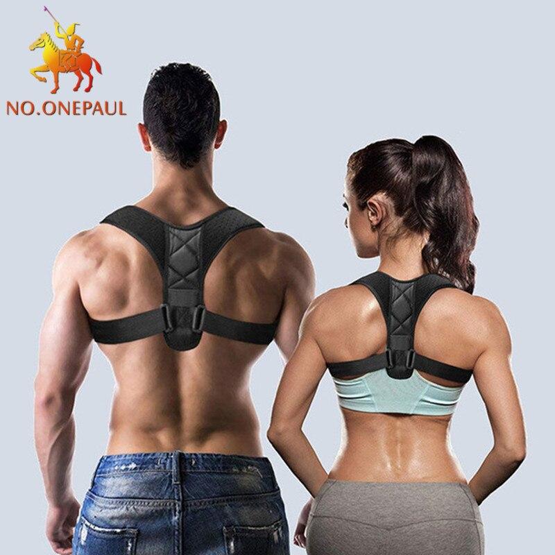 NO.ONEPAUL Adjustable Clavicle Posture Corrector Men Woemen Upper Back Brace Shoulder Lumbar Support