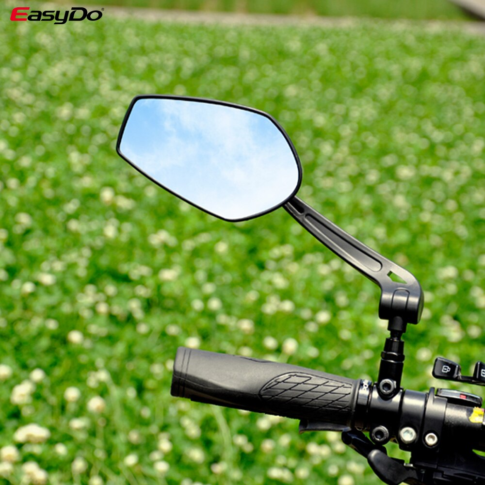 EasyDo Bicycle Handlebar Reflector Rear View Mirror Mountain Bike Electrical Bike Scooter HD Wide-Range Adjustable Angles Mirror