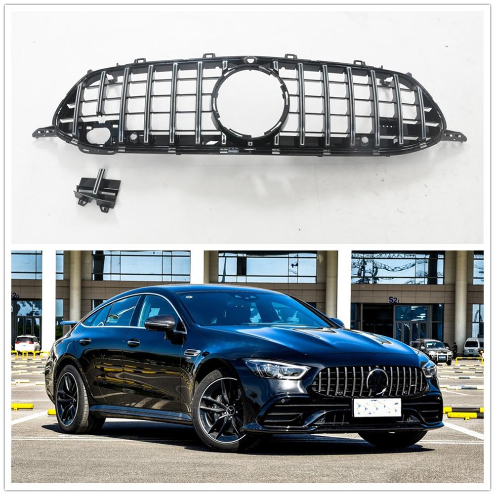 Rejilla de rejilla delantera negra para Mercedes Benz AMG GT 53 63, 4 puertas Coupe 2018 2019 2020
