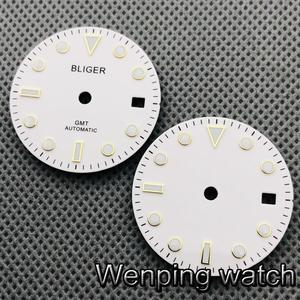 Bliger 28.5mm watch dial luminous dial suitable for 2836 2824 ,Miyota 8205 8215 821A,Mingzhu DG2813 3804 Seagull ST1612 movement