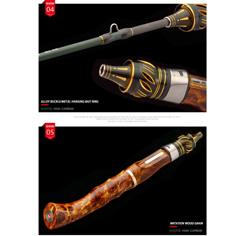 Soft Tune Tones UL Cork Wood Handle Solid Pole Tip Fishing Gear Casting Spinning Jigging Rod Ultra Light Boat Lure Tackle Rock enlarge