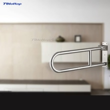 Tlhottop Stainless Steel Folding Grab Bar Disability Grab Rail Support Handle Bar Bathroom Railing Safety Aid 60CM