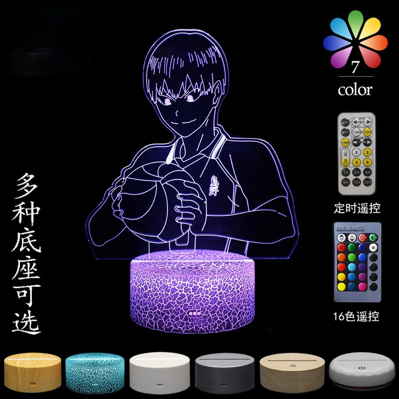 Volleyball teenager 3D table lamp visual stereo LED colorful touch night light anime led light birthday gift creative gift