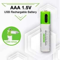 2020 new 1 5v mirco usb rechargeable battery 550mwh aaa toys remote controller batteries lithium polymer battery