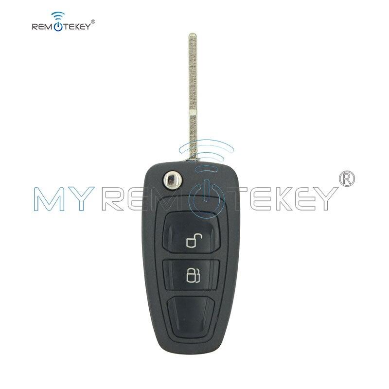Remtekey 5wk50165 dobrável chave 2 botão 434mhz fsk 4d63 80bit chip hu101 lâmina para ford ranger 2011-2015