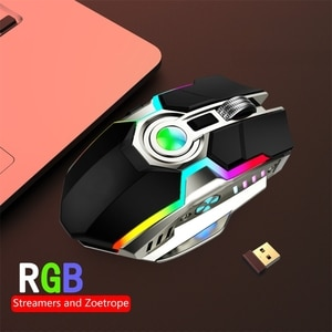 3500DPI 2.4Ghz 7Key Wireless Gaming LED RGB USB Charge Mouse Slient Microswitch
