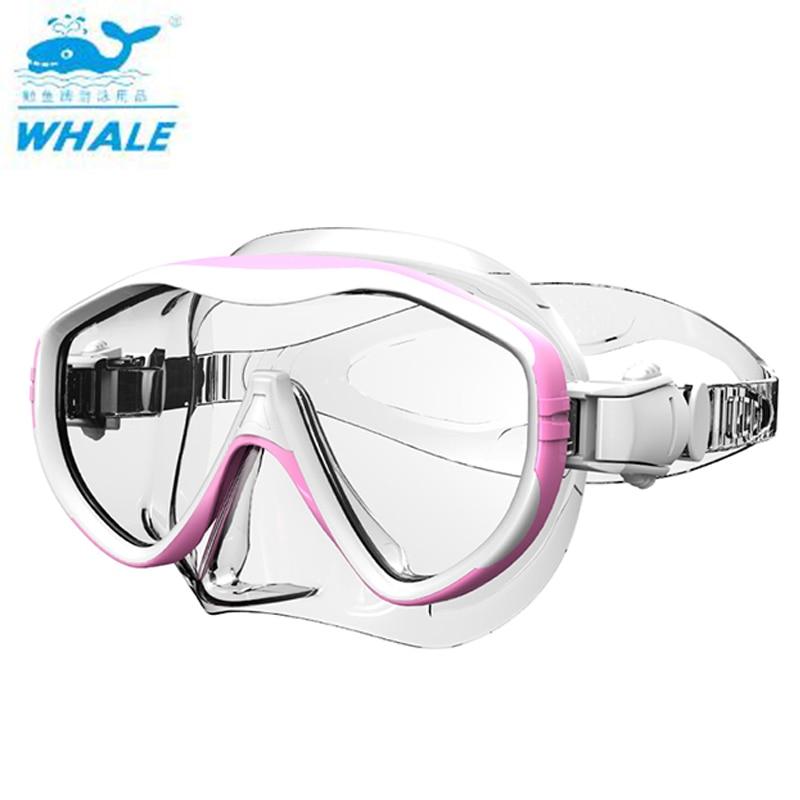 Máscara de buceo con ballena, máscara de buceo antiniebla para hombres y mujeres, gafas para usar bajo el agua, gafas de visión amplia, accesorios para deportes acuáticos