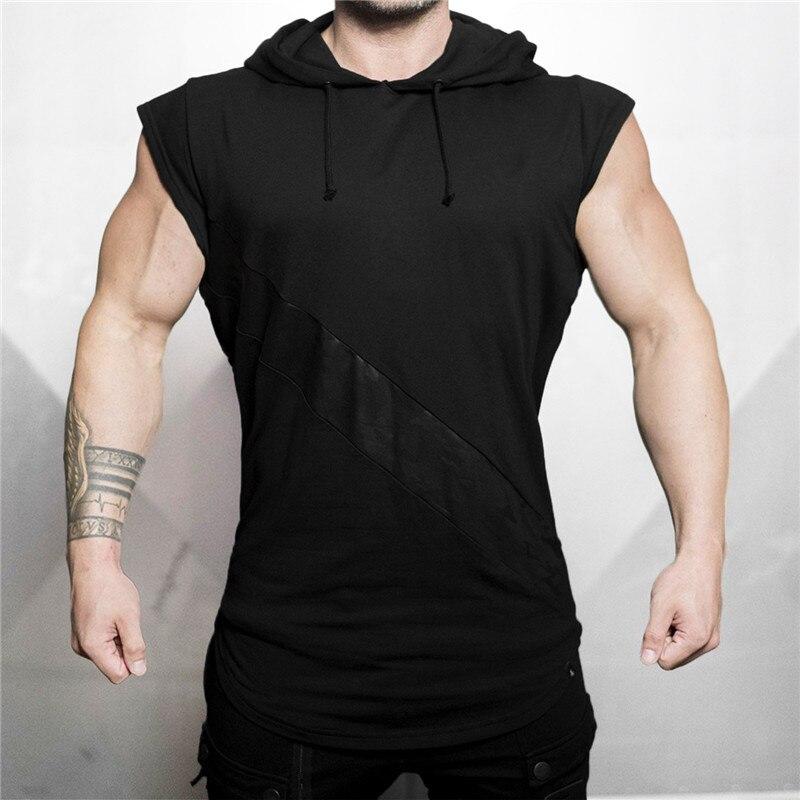 Camisetas de culturismo para hombre, camiseta sin mangas de algodón, ropa de...