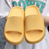 mens fashion yellow summer slippers mens big size 45 soft platform sandals unisex hot sale massage slippers zapatos hombre 2020