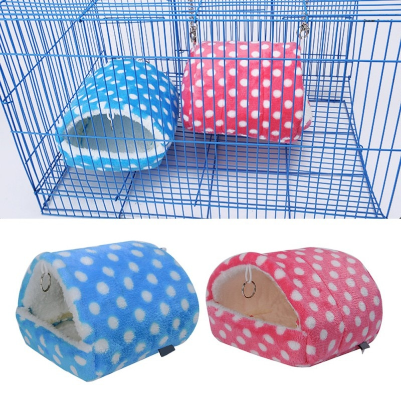 2019 peluche suave conejillo de indias casa Cama jaula para hámster Mini Animal rata ratones nido cama Casa de hámster pequeños productos para mascotas