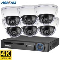 4K Ultra HD 8MP Security Camera System h.265 POE NVR Kit CCTV Outdoor Metal White Dome Video Surveillance K10 IP Camera Set