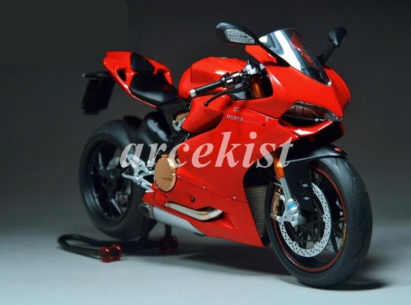 Новый ABS литьевая форма обтекатели комплект подходит для Ducati 899 1199 panigale 1199S 2012 2013 2014 12 13 14 15 Пользовательские красный черный