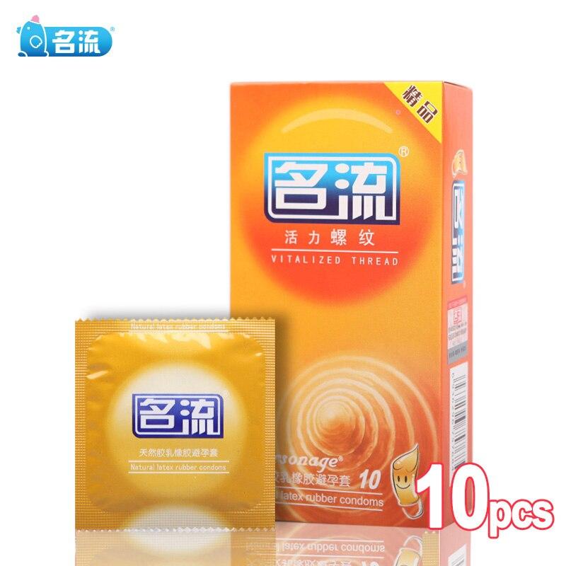 Preservativos de hilo vitalizados PERSONAGE 10 Uds estimulación del punto G Condone sabor limón manga del pene para hombres productos sexuales para adultos Sexsh