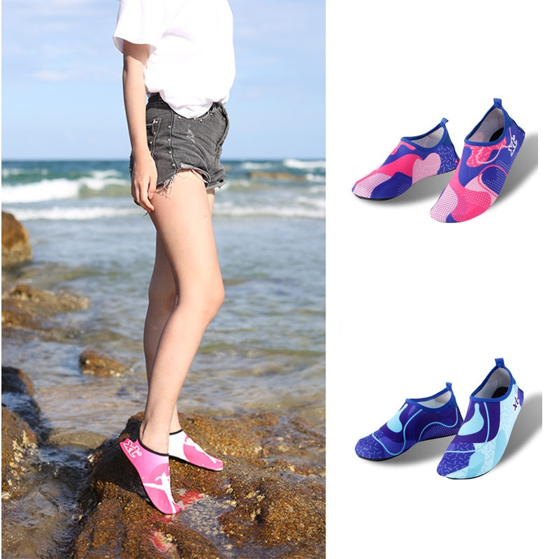 Men Women Water Shoes Barefoot Beach Pool Shoes Quick-Drying Water Yoga Shoes Suitable For Surfing S