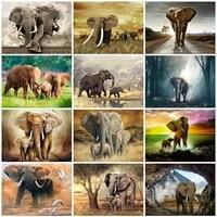 full square round drill diamond painting elephant cross stitch mosaic diamond embroidery animals 5d diy home decor gift
