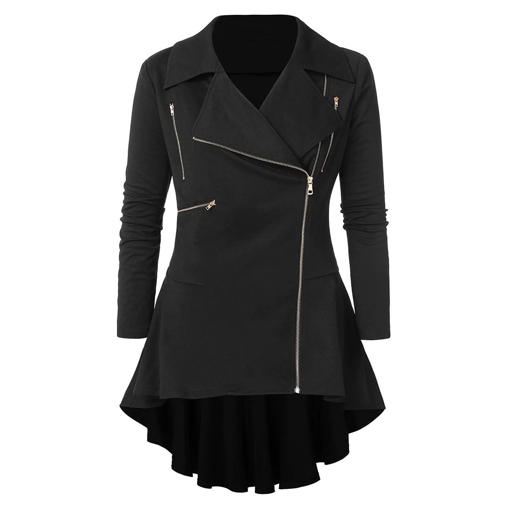 Jaqueta feminina vintage irregular, plus size, para escritório, mulheres, roupas, chaquetas, 2019