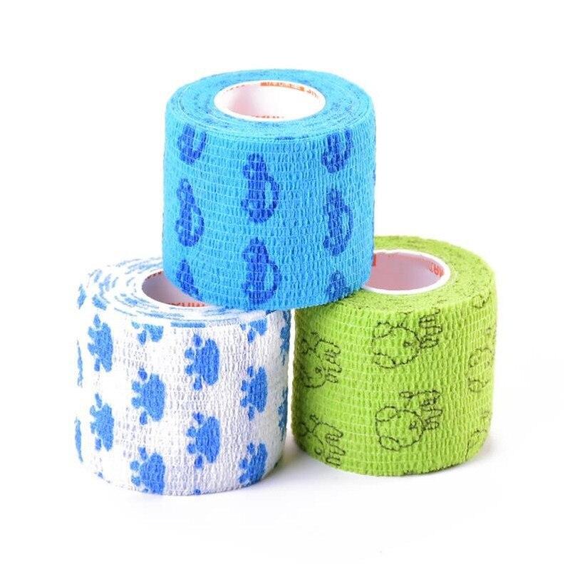 Cartoon Waterproof Self-adhesive Tape Elastic Bandage Sports Muscle Bandage Emergency Survival Kits Camping Supplies 1pc