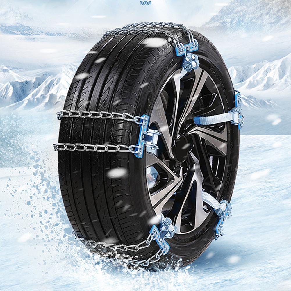 Car Tyre Chain Winter Roadway Safety Tire Snow Chain Adjustable Anti-skid Chains Double Snap Skid Wheel Chains