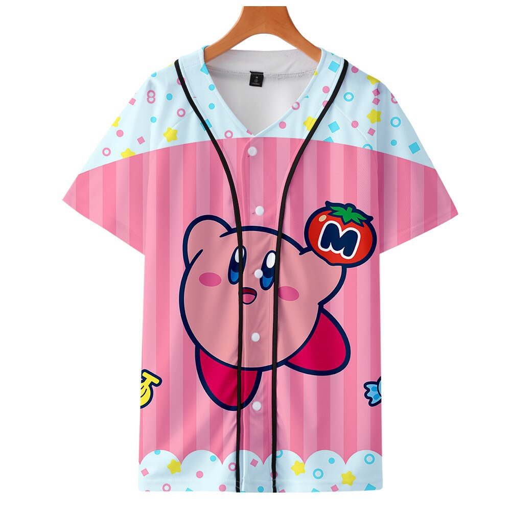 3D Kirby Printed Baseball T-shirts for Women/Men fans Summer Short Sleeve cute Tshirt 2019 Hot Sale Streetwear Clothes 4XL