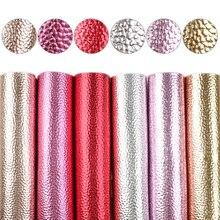 David-6 pièces/ensemble 15*21cm A5 Litchi   Tissu en Faux cuir pour la couture, boucles doreilles synthétiques, tissu pour sac, 1Yc9326