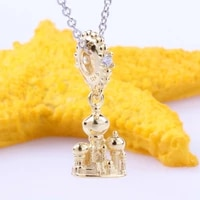 s925 sterling silver niagarba castle pendant new style agraba castle string decoration fit original charms necklace
