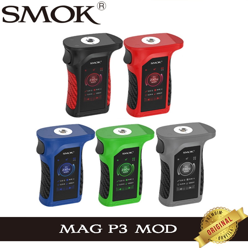 SMOK Mag P3 бокс мод 230 Вт Водонепроницаемый сенсорный экран электронная сигарета Vape IQ-M чипсет испаритель поддержка TFV16 Танк Атомайзер