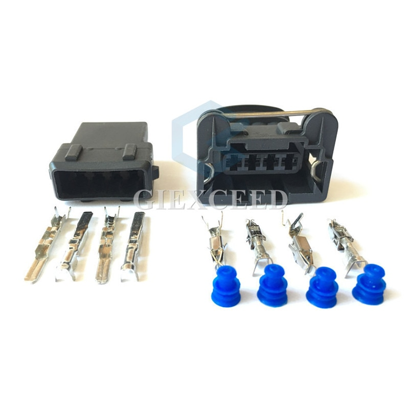 2 juegos de enchufe de 4 pines 282192-1 Junior Power Timer conector para Sensor de oxígeno enchufe de bobina de encendido