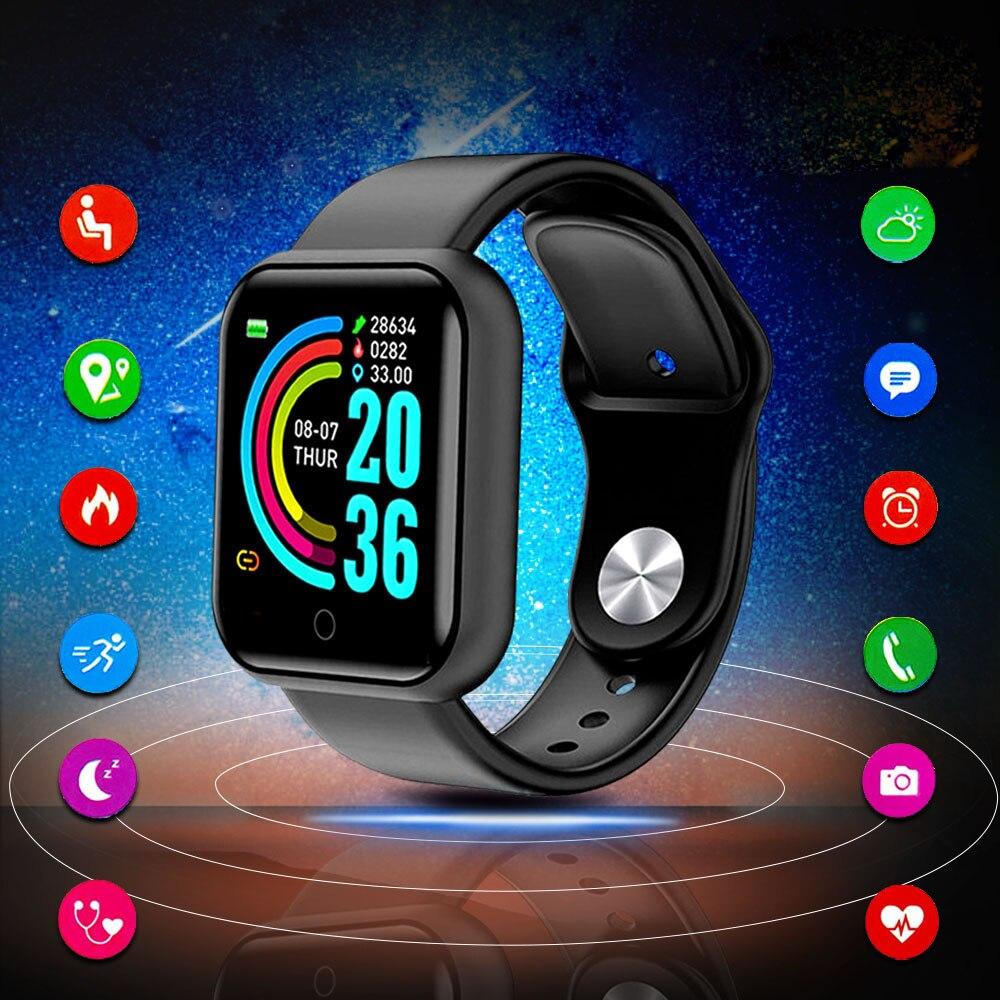 Bluetooth Smart Uhr Männer Frauen Smartwatch Kinder Wache Whatch Sport Uhren Tracker Fitness Uhr Uhr Stunden Für Android IOS