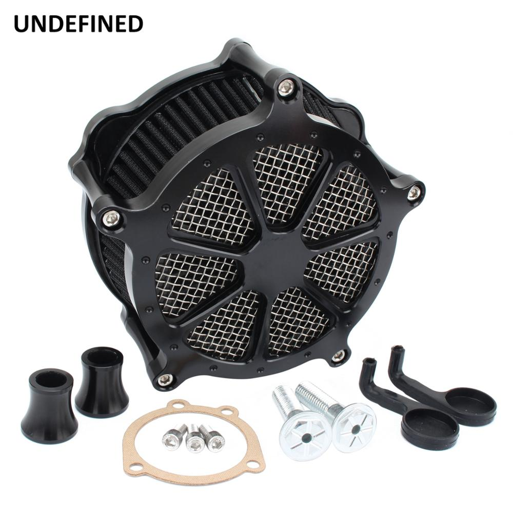 Motorcycle CNC Cut Air Filter Cleaner Intake Aluminum Black For Harley Sportster Iron 883 XL1200 XL883 Forty Eight 72 1991-2019