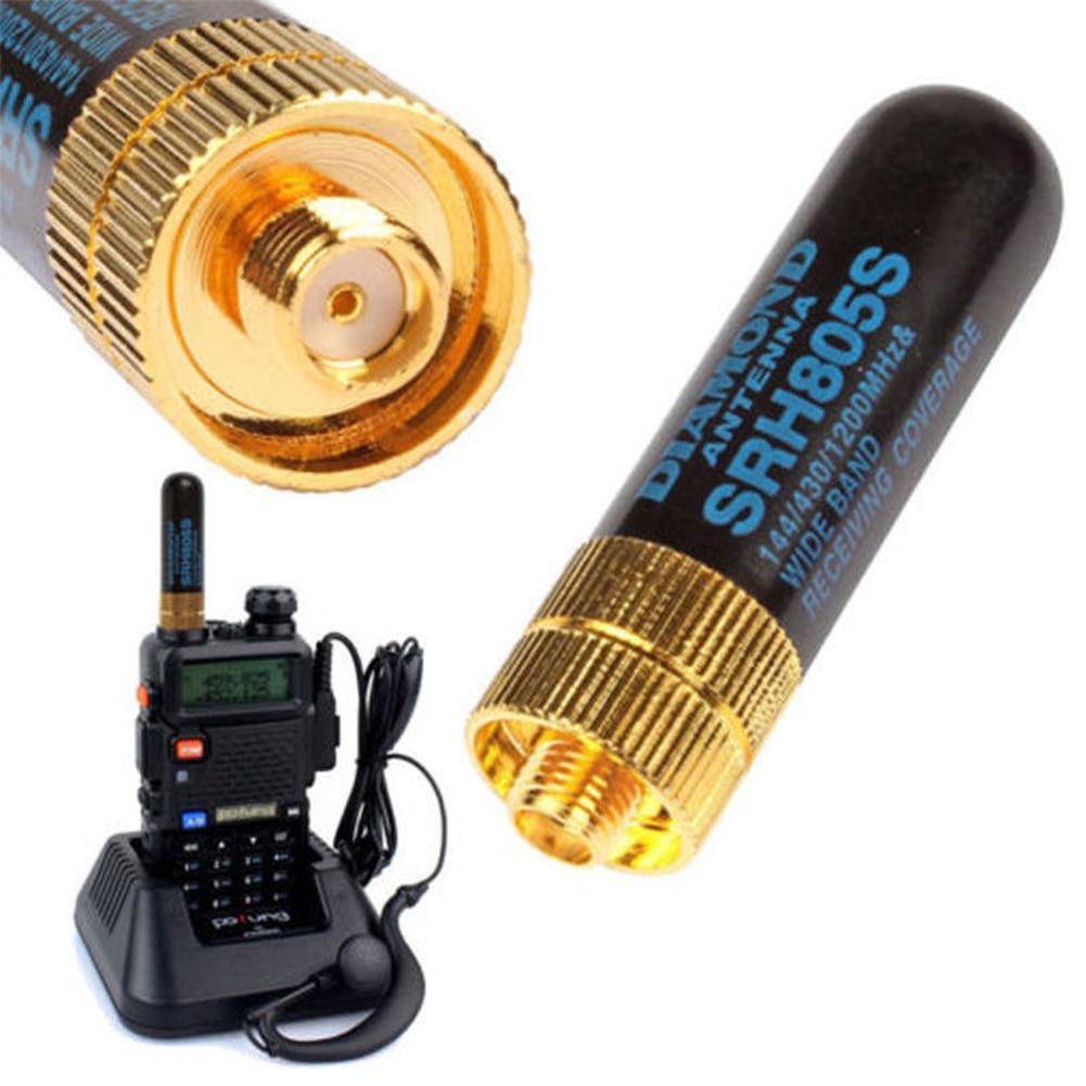 Female Mini Antenna Portable Stable Lightweight Metal Dual Band Signal Boost Interphone Use Professional UHF VHF Long Range