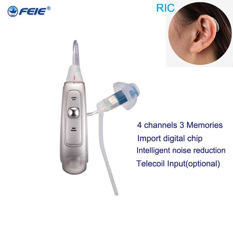 موضة الأذن مكبر صوت صغير الرقمية السمع ريك مساعدات سمعية رقمية الرعاية الصحية سماعة مع بطاريات A312 my-19