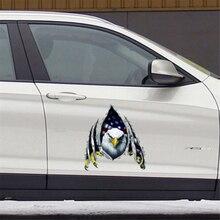 Drapeau américain aigle chauve autocollant de voiture autocollants colorés pour animaux de compagnie moto accessoires autocollant