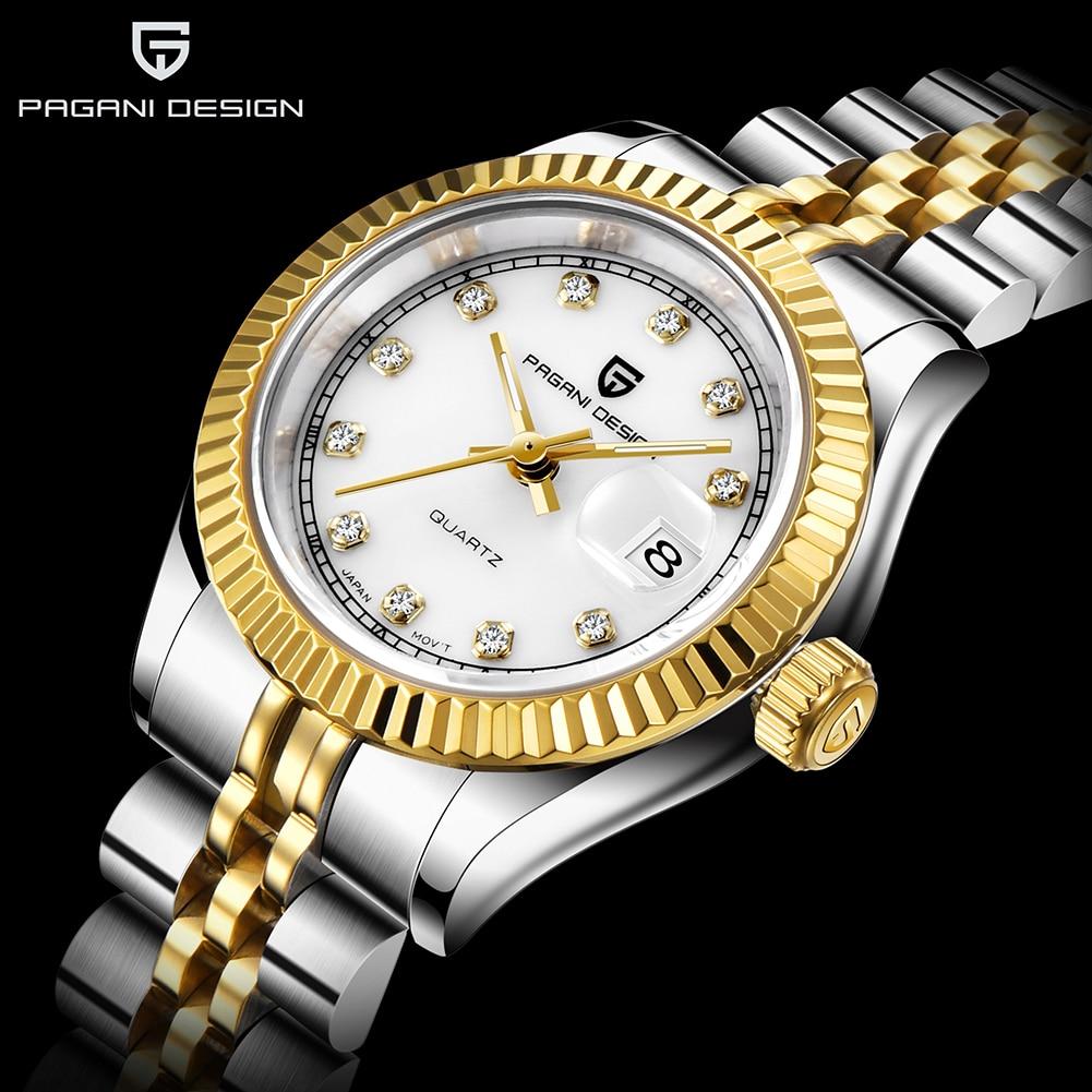 Pagani Ontwerp Top Merk Vrouwen Armband Horloge Luxe Vrouwen Fashion Sapphire Crystal Diamond Quartz Klok Dames Jurk Horloges