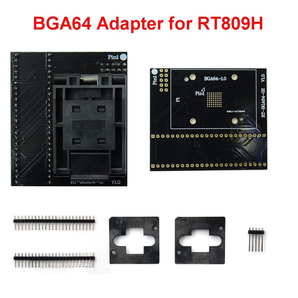 BGA64 EMMC محول ل RT809H مبرمج العالمي RT-BGA64-1 1.0 مللي متر RT-BGA64-02 المقبس 11*13 مللي متر اختبار كليب رقائق الذكية آلة حاسبة